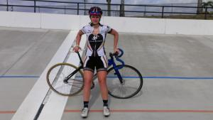 Adriane Provost at the velodrome in Florida.